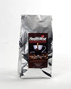 HealthWise 100% Colombian Supremo, Almond Low Acid Whole Bean Coffee, 5 Pound Bag