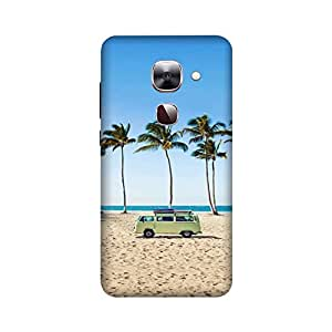 StyleO LeEco Le 2 Designer Printed Case & Covers (LeEco Le 2 Back Cover) - Sea Sand Car