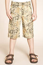 Pure Cotton Abstract Print Cargo Shorts [T88-2108Z-Z]