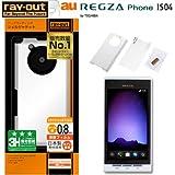 レイアウト REGZA Phone au by KDDI IS04用ハードコーティングシェルジャケット/パールホワイト RT-IS04C3/W