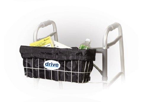 Drive Medical Deluxe Walker Basket Carry Bag Liner, Black