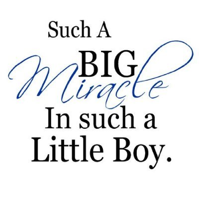 boy miracle wall decal quote