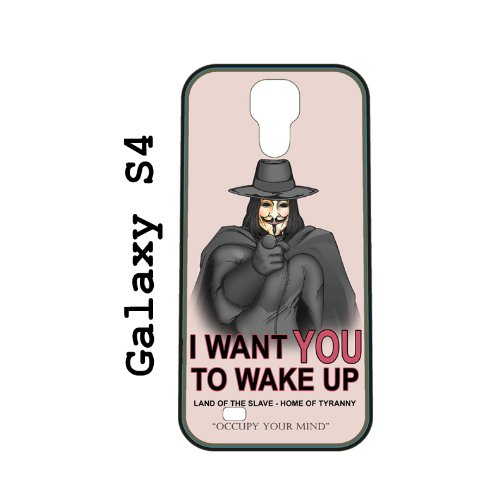 V For Vendetta Propaganda (Wake Up) Soft Silicone Rubber Skin Case Cover For Samsung Galaxy S4 Siv By Artist Old School