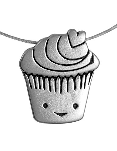 Love Muffin / Cupcake Sterling Silver Charm Necklace