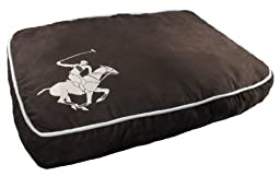 Beverly Hills Polo Club Super Horse Puff Pillow Pet Bed, 30 by 24 by 4-1/2-Inch, Brown