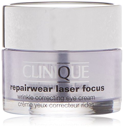 Clinique Crema Antirughe, Repairwear Laser Focus Wrinkle Correcting Eye Cream, 15 ml