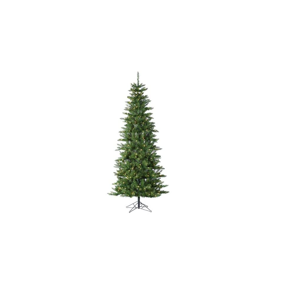 7.5 Pre Lit Slim Augusta Pine Artificial Christmas Tree   Clear Lights