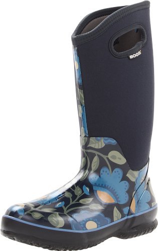 Bogs Women's Classic High Secret Garden Boot,Navy,6 M US