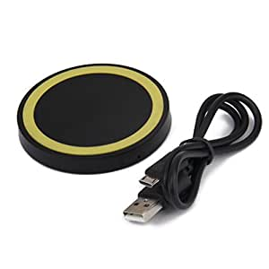 Generic Universal QI Wireless Charger Charging Pad Plate for Phone Yellow Circle