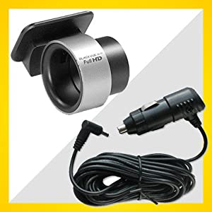 Blackvue DR500GW-HD Window Mount and 15ft Car Cigar Jack Power cable
