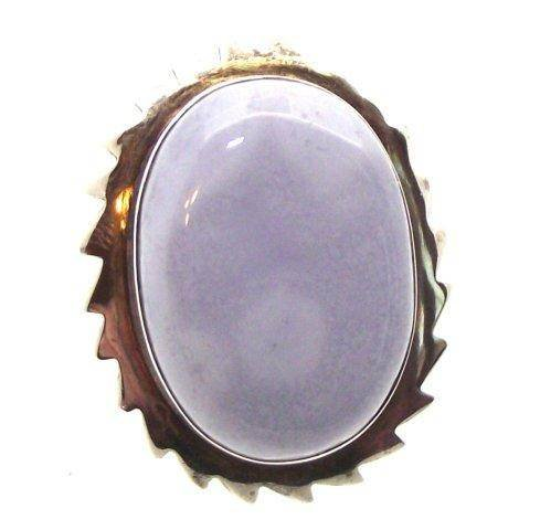 Blue Chalcedony Ring Size O