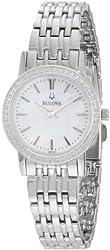 Bulova Women's 96R164 Round Diamond Bezel Watch