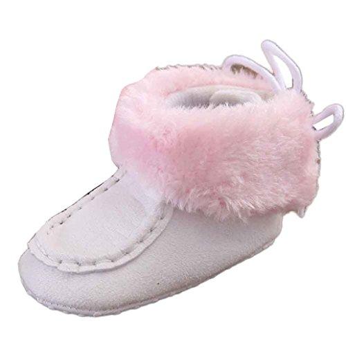 Scarpine Neonata,Xinantime Snow Boots Molli del Bambino Stivali Scarpe Bambino (12, Bianco)