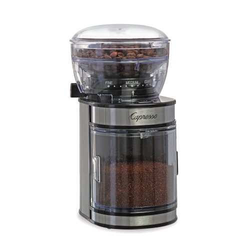 Capresso Electric Ceramic And Stainless Steel Espresso And Coffee Bean Burr Grinder front-517595
