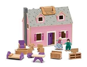 Melissa & Doug Fold & Go Wooden Dollhouse