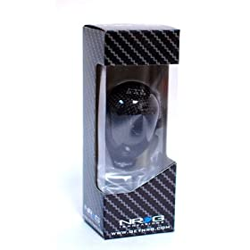 NRG SK-100BC Universal 42mm 5 Speed Black Carbon Fiber Shift Knob