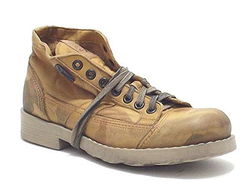Oxs scarpe uomo, modello Frank 1251, in pelle camouflage, colore beige