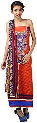 Hardy's Style Women's Pashmina Dress Material (HS-38, Cherry Red)