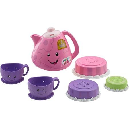 Fisher-Price Laugh and Learn Smart Stages Tea Set, 7 sung songs, 5 instrumentals, 20 phrases and 5 fun sounds (Fisher Tea Set compare prices)