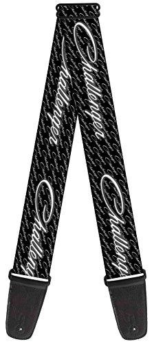 dodge-automobile-company-cursive-challenger-guitar-strap