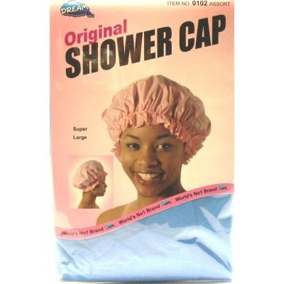 Dream Shower Cap Asst Clr (Pack of 12) Super Large