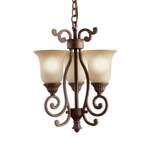 Kichler Lighting 2215TZG 3-Light Larissa Incandescent Pendalette, Tannery Bronze