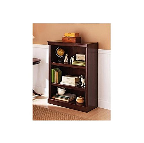 Better Homes and Gardens Ashwood Road 3-Shelf Bookcase. Sturdy, Modern, Wooden Bookcase with 2 Shelves ON SALE!! This Modern Book Case Will Look Great in Your Office, Bedroom or Living Room. Wooden Bookcases or Book Shelves Are Practical Yet Stylish. (Cherry) New 3 Shelf Bookcase