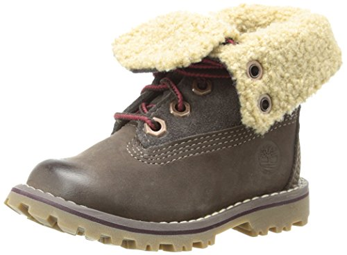 Timberland Authentics 6-Inch Shearling Fold Down Waterproof Boot (Toddler/Little Kid/Big Kid),Dark Brown,12.5 M Us Little Kid
