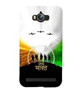 99Sublimation Patriotic Indian 3D Hard Polycarbonate Back Case Cover for Asus Zenfone Max ZC550KL :: 2016 :: 6A076IN