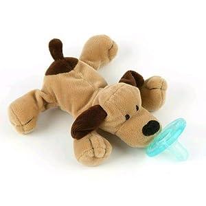 WUBBANUB Chupete Soothie (Brown Puppy) - BebeHogar.com