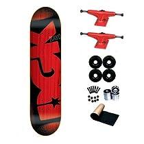 DGK Red Stencil Team 7.75 Skateboard Complete Deck
