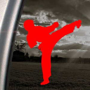 Amazon.com - Karate Kid Kick Jaden Smith Red Decal Will ...