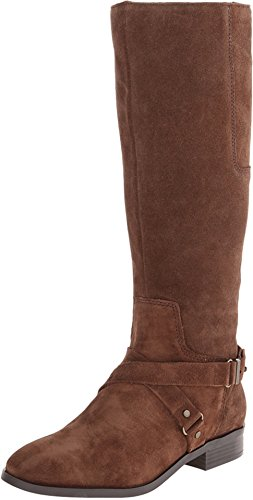 Nine West Women'S Blogger Suede Harness Boot,Brown,10.5 M Us