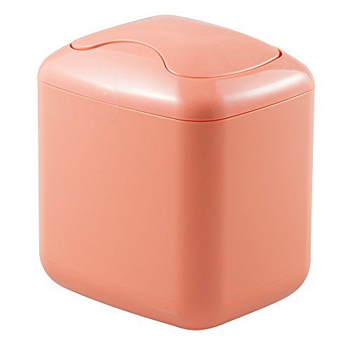 mDesign Wastebasket Trash Can for Bathroom Vanity Countertops - Coral (Countertop Organization compare prices)