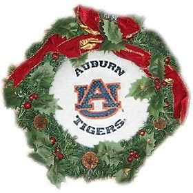 "W2B - Auburn Tigers 22"" Fiber Optic Holiday Wreath at Amazon.com"