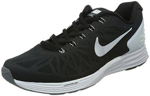 Nike Men's Lunarglide 6 Black/White/Pr Platinum/Cl Gry Running Shoe 10 Men US