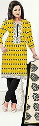 KNC Women Banarasi Jacard Unstitched Dress Material Three Piece Salwar Kamiz_Yellow