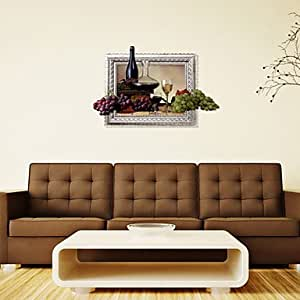 Pi 3d the grape wall stickers wall decals for Amazon wall mural