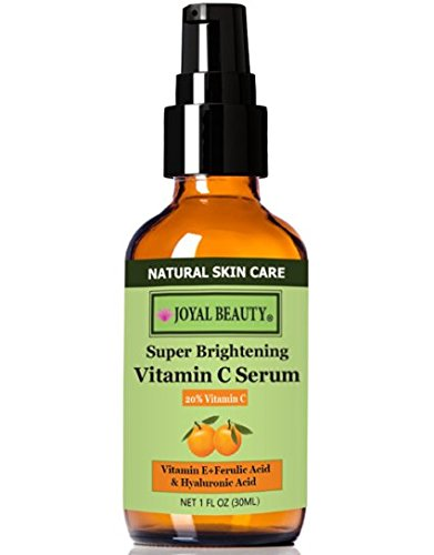 Joyal Beauty® Joyal Beauty THE BEST Organic Vitamin C Serum with Hyaluronic Acid and Ferulic Acid Super Brightening Vitamin C Serum.The Most Effective and Stabilized Vitamin C 20% + Vegan Hyaluronic