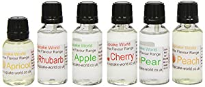 Cupcake World Intense Food Flavourings English Orchard Pack 28.5 ml (Pack of 1, Total 6 Flavours)