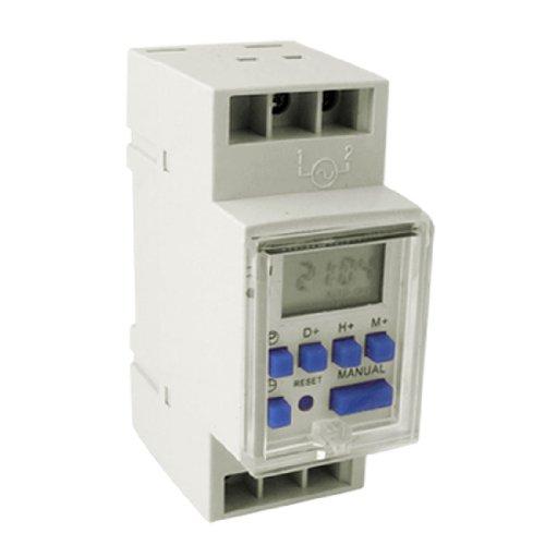 Dc 12V Control Voltage Din Rail Type Weekly Digital Programmable Timer