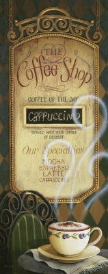 (8X20) Lisa Audit Coffee Shop Menu Art Print Poster Art Poster Print By Lisa Audit, 8X20
