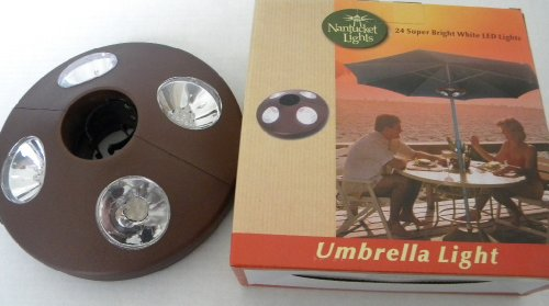 24 LED Umbrella Light Battery Operated--brown