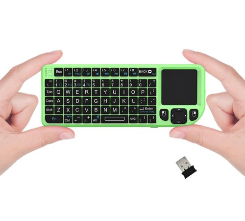 Favi Fe01-Gr Mini 2.4Ghz Wireless Keyboard With Mouse Touchpad (Green)