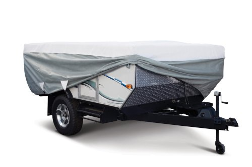 Classic Accessories OverDrive PolyPRO 3 Deluxe Pop-Up Camper Trailer Cover, Fits 8' - 10' Trailers - Max Weather Protection with 3-Ply Poly Fabric Roof RV Cover (80-038-143106-00) (Pop Up Camper Trailer Part compare prices)