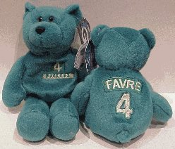 Brett Favre Packers Limited Treasures Bear