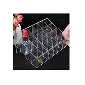 ChinOn 24 Stand Trapezoid Clear Lipstick Lotion Makeup Cosmetic Holder Storage Display Stand