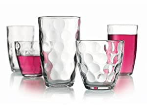 Set of 16 Durable Drinking Glasses ~ Includes 8 Highball Glasses and 8 DOF Glasses ~... by GF Goods