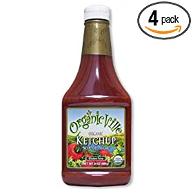 Organic No Added Sugar Ketchup, Gluten Free, 24-Ounce Bottles (Pack of 4): Amazon.com