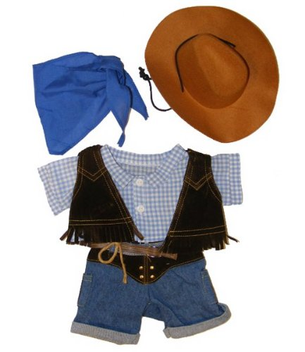 Cowboy w/Hat and Scarf Outfit Teddy Bear Clothes